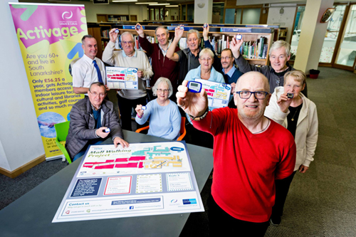 Mall Walkers meet at East Kilbride Central Library