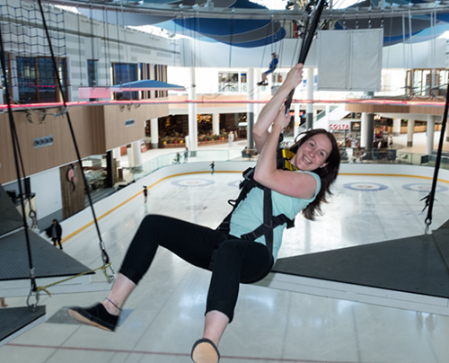 Woman on Hi-Ride at Aerial Adventures