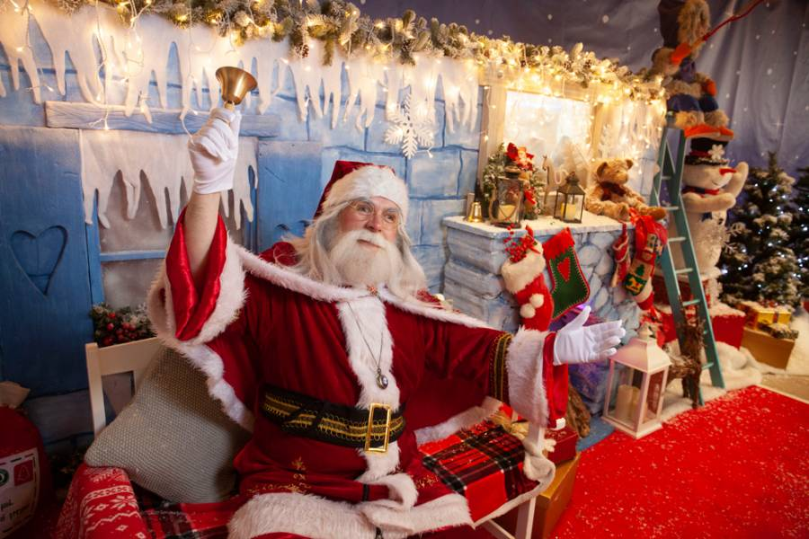 Santa at the grotto in EK, East Kilbride